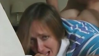 Mommy keeps crying all throughout first anal attempt