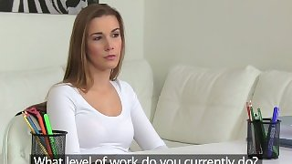 FemaleAgent. Beautiful new agents first casting is a sexual success