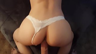 White Panties POV Girlfriend Doggy