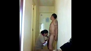Hotel maid gets fucked by stranger