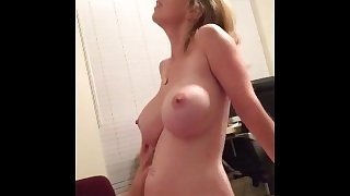 Milf with awesome tits riding his dick - Amateur Cool